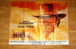Original Uk Quad Pale Rider Movie Poster Clint Eastwood 1985