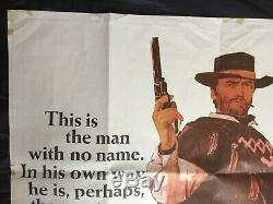 Original Uk Quad Poster Le Poing Plein De Dollars Eastwood Film De Western Film Vintage