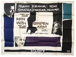 Original Vintage Man With The Golden Arm 1955 Quad Film Cinema Poster Saul Bass