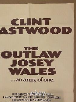 Outlaw Josey Wales British Quad'76 Eastwood Est Armée D'une, Cool Double-fisted