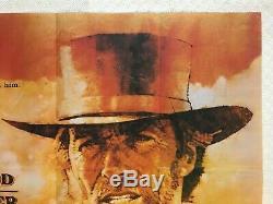 Pale Rider Film Original Quad Affiche 1985 Clint Eastwood Michael Dudash