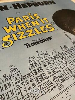 Paris Quand IL Pétille Uk Quad (1964) Entoilée Film Affiche Originale Hepburn