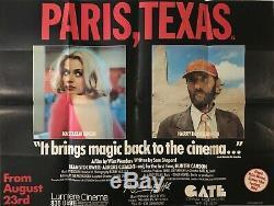Paris, Texas Originale Britannique Film Quad Poster 1984 Nastassja Kinski