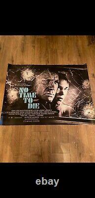 Pas Le Temps De Mourir James Bond 007 Original Royaume-uni Quad Affiche De Film. Nouveau. Menthe