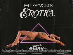Paul Raymond's Erotica Britannique Affiche Du Film Quad 30x40 Brigitte Lahaie 1981