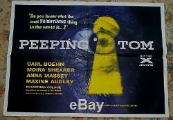Peeping Tom Affiche Originale Britannique Du Film Quad