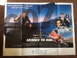 Permis De Tuer James Bond 007 Affiche Du Film \