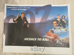 Permis De Tuer Quad 1989 Blank Rare Britannique Quad Affiche De Film De James Bond 007