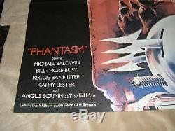 Phantasm Affiche Originale De Film Britannique Quad 1979, 30 X 40, C8 Très Fine
