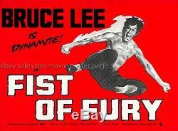 Poème De Fureur 1972 Bruce Lee Uk Affiche Du Film Quad