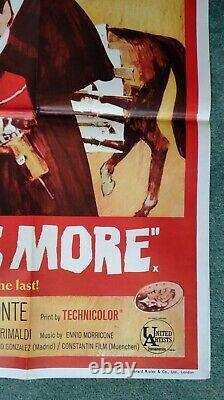 Pour Une Feuille Dollars Plus (1965) Affiche Originale Du Quadruple Film Britannique Clint Eastwood