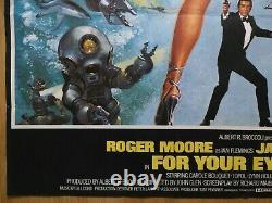 Pour Vos Yeux Seulement (1981) Affiche Quad Britannique Originale, James Bond 007