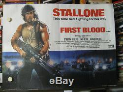 Premier Sang Affiche Filmplakat Uk Quad Rambo Sylvester Stallone