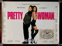 Pretty Woman Originale Mint Laminés Royaume-uni Quad Affiche Du Film 1990