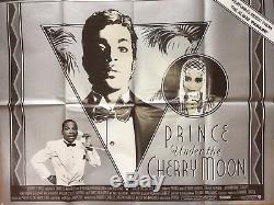 Prince'under The Cherry Moon 'original Affiche De Cinéma Cinématographique Britannique Quad 30x40