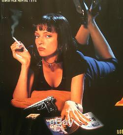 Pulp Fiction, Uma Thurman, Affiche Britannique Originale De Cinéma Pour Films Cinématographiques De 1994