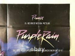 Purple Rain Original 1984 Film Quad Poster Prince Albert Magnoli