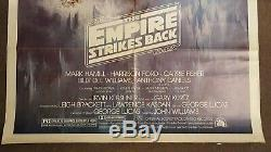 Rare 1980 Original Us Une Feuille La Frappe Film Retour Empire Affiche Non Quad