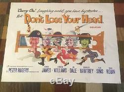 Rare Carry Original On Ne Perdez Pas Votre Tête Film Poster Quad