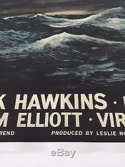 Rare Lin Soutenu Style-a Film Film Quad Britannique Affiches La Mer Cruel 1953