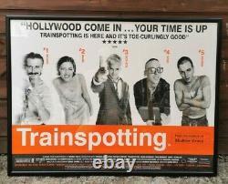 Rare Original 1996 Trainspotting Film De Cinéma Quad Encadrée Affiche