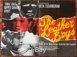 Rare The Boys En Cuir D'origine 1964 Affiche Quad Film, Britannique Classique
