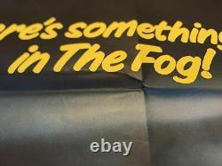 Rare The Fog (1980) Affiche De Cinéma Originale Du Royaume-uni Quad John Carpenter Movie