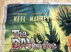 Rare Vintage 1962 Jour De La Poster Film Quad Triffids 30x40 Horreur Sci-fi