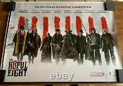 Rare-the Hateful Eight V2, Un Quentin Tarantino Film (british Quad) Cinema Poster