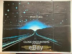 Rencontres Du Troisieme Type (1977) D'origine Affiche Du Film Quad Au Royaume-uni