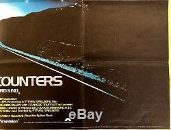 Rencontres Rapprochées Du Troisième Type Affiche Originale Britannique Quad Movie 1977 Spielberg