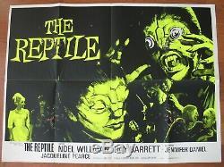 Reptile (1966) Original Uk Quad Affiche, Juste État, Hammer Horror