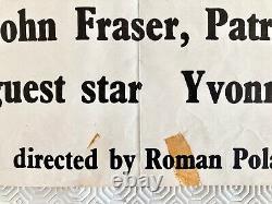 Répulsion Original 1965 Film Quad Poster Roman Polanski Deneuve Jan Lenica Art