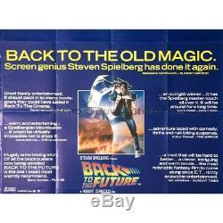 Retour À L'avenir Britannique Quad Film Critiques Poster 1985 Robert Zemeckis