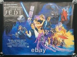 Retour De L'affiche Originale Du Film Jedi Quad Rolled Star Wars George Lucas 1983
