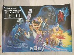 Retour Du Jedi Film Original Britannique Quad Poster 1983 Rare Star Wars Roulées