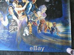 Retour Du Jedi Original Uk Quad Affiche Du Film 1983 Très Rare Affiche Rolled