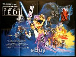 Retour Du Jedi Star Wars Josh Kirby Art 1983 British Quad Near Mint