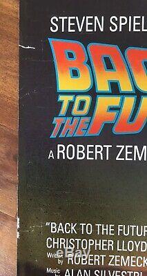 Retour Vers Le Futur 1985 Affiche De Film Britannique Quad Sci Fi