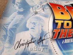 Retour Vers Le Futur Signé Autograph Original Affiche De Quad Quad X3