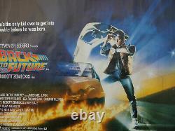 Retour Vers Le Futur (rolled) 1985 Uk Quad Cinéma Film Poster Michael J Fox