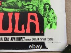 Rites Sataniques De Dracula Uk Quad Film Original Poster Linen Supéried 1973 Rare