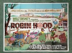 Robin Hood (1973) Cinéma Original Du Royaume-uni Première Sortie Quad Film Affiche Disney