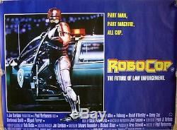 Robocop Affiche Du Film Original Quad Britannique (1987) Le Produit Laminé