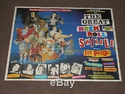 Rock & Roll Swindle 1980 Uk Quad Affiche De Film (sex Pistols)