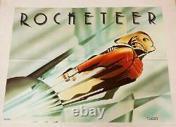Rocketeer Original 1991 Royaume-uni Quad Teaser Film Poster Cinéma Plié Bande Dessinée