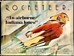 Rocketeer Original Quad Affiche De Cinéma Walt Disney Adventure 1991 Rolled