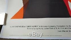 Royaume-uni Quad Original Affiche Du Film Clint Eastwood-'dirty Harry ' Entoilée Vf