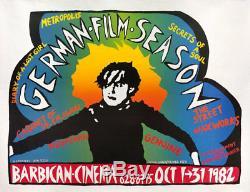 Saison Du Film Allemand Le Cabinet Du Dr. Caligari 1982 Affiche Britannique En Quad