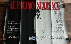 Scarface Original 1983 Uk Quad Affiche De Film